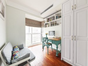 家装红色地板装修效果图 美式地板效果图