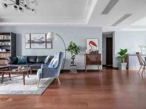 家装棕色木地板装修效果图 简欧地板装修效果图