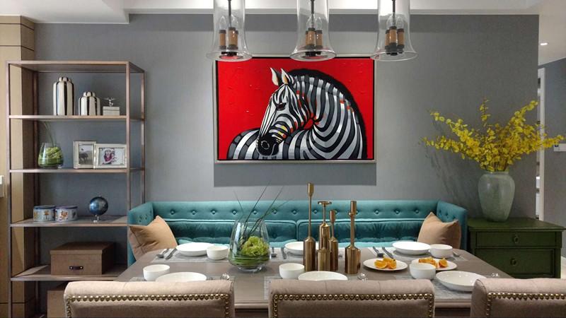 浅灰色木地板电视墙效果图大全 美式地板效果图_4