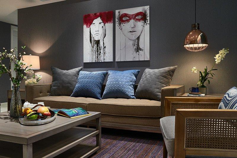 浅灰色木地板电视墙效果图大全 美式地板效果图_3