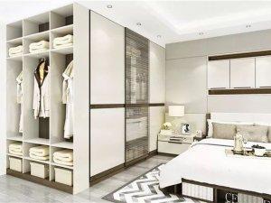 卧室地板装修效果图 欧式灰色地板效果图