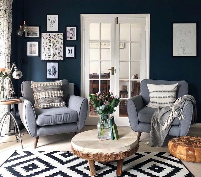 實木復合木地板上墻效果圖 淺色客廳地板效果圖