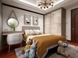 卧室拼花红色地板装修效果图 打造奢华感