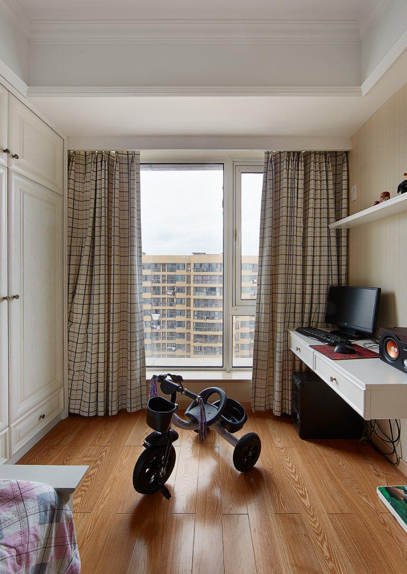 美式小户型地板装修效果图大全 卧室深色地板装修效果图_23