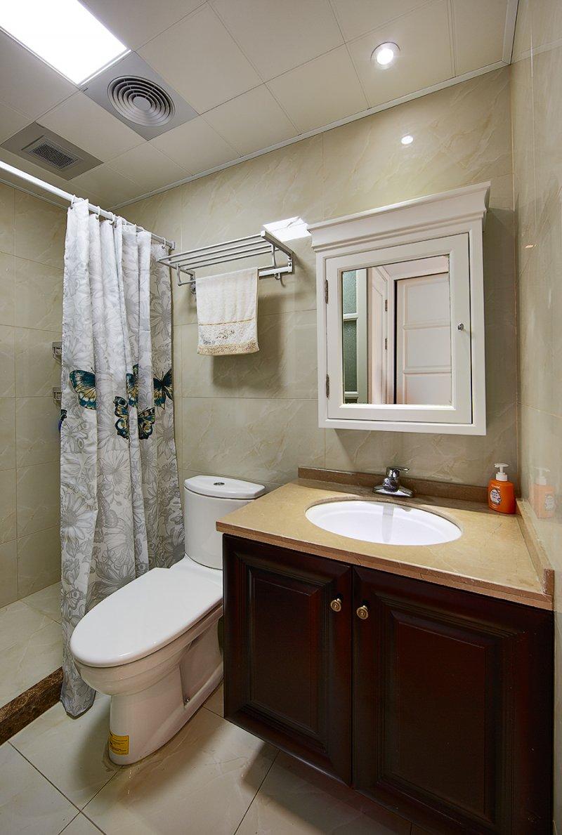 美式小户型地板装修效果图大全 卧室深色地板装修效果图_9