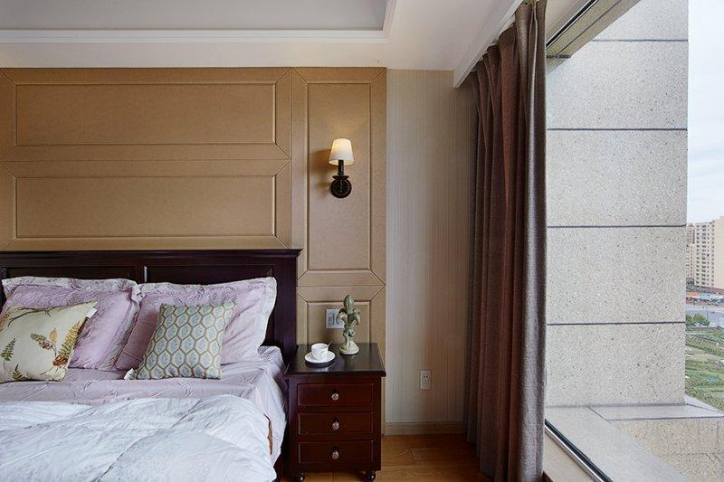 美式小户型地板装修效果图大全 卧室深色地板装修效果图_15