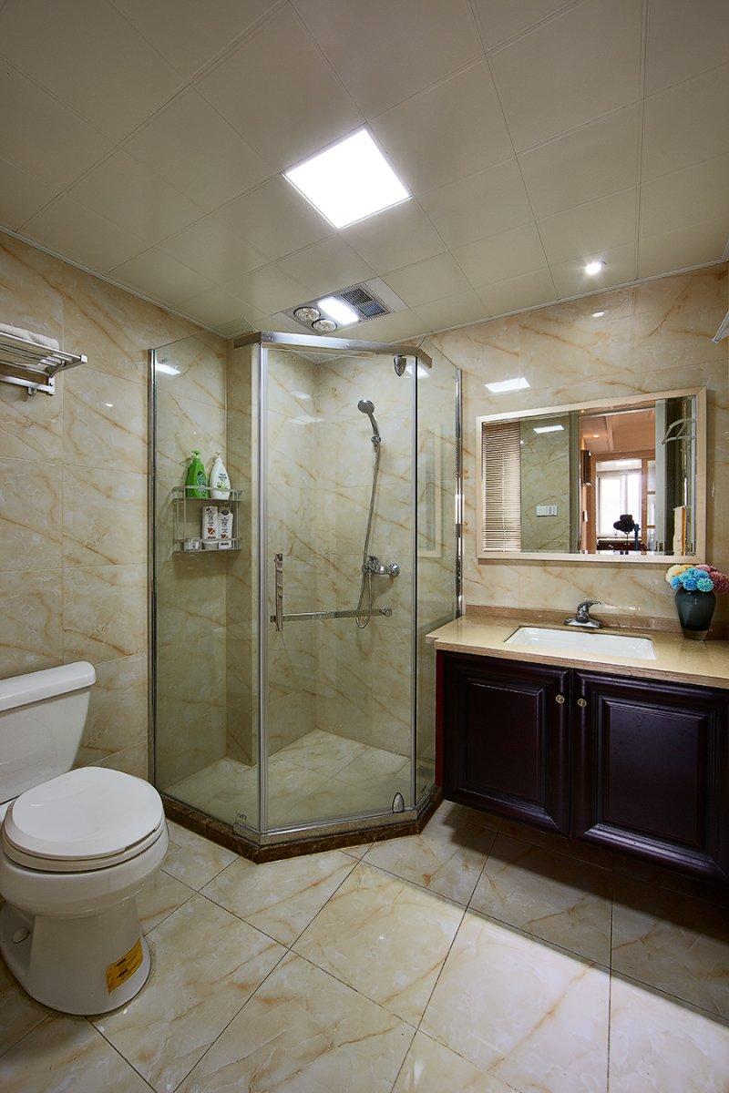美式小户型地板装修效果图大全 卧室深色地板装修效果图_10