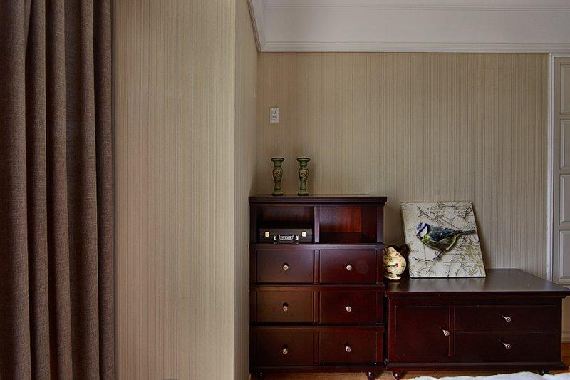 美式小户型地板装修效果图大全 卧室深色地板装修效果图_14