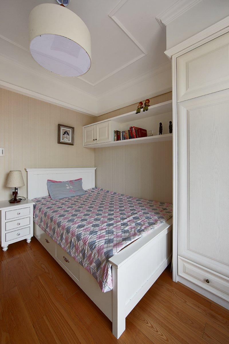 美式小户型地板装修效果图大全 卧室深色地板装修效果图_20
