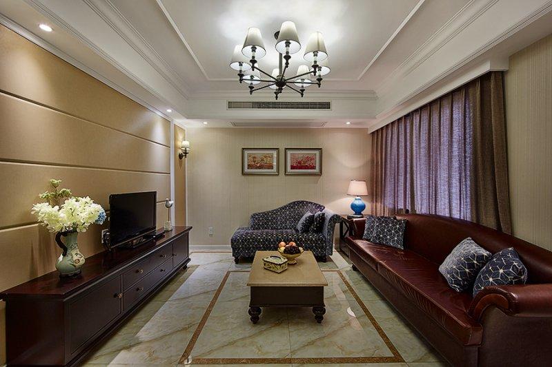 美式小户型地板装修效果图大全 卧室深色地板装修效果图_1