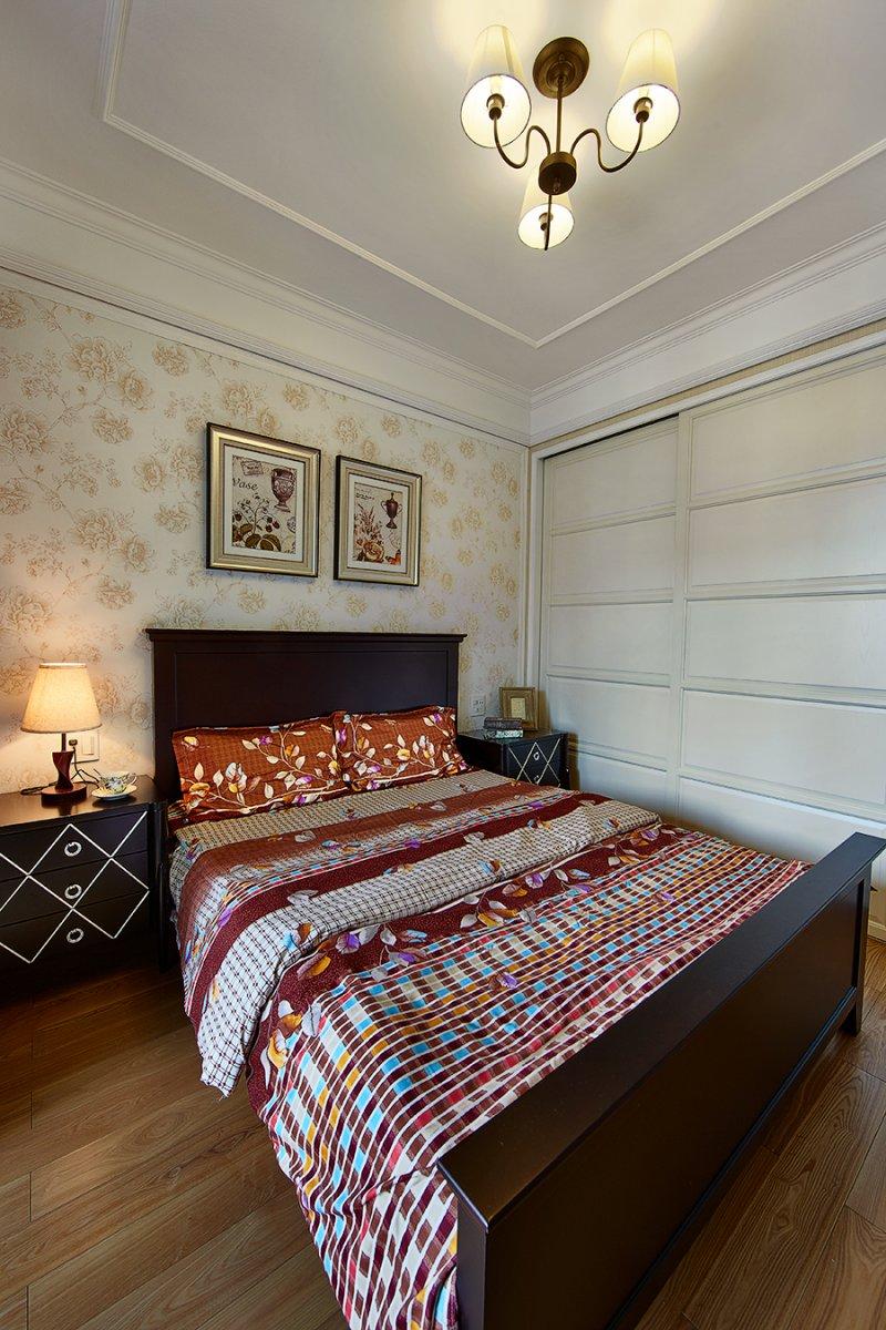 美式小户型地板装修效果图大全 卧室深色地板装修效果图_18