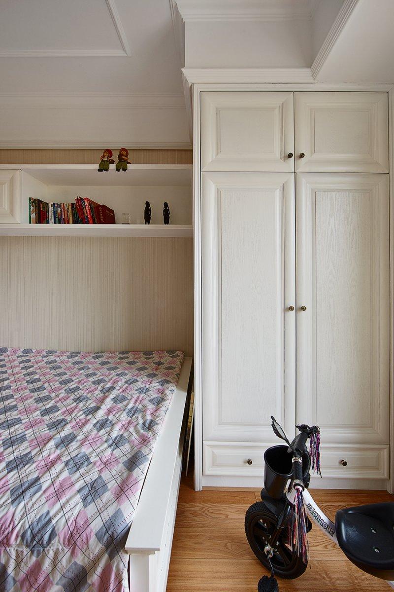 美式小户型地板装修效果图大全 卧室深色地板装修效果图_21