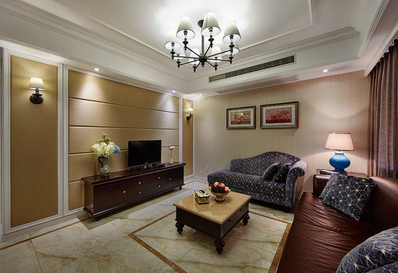 美式小户型地板装修效果图大全 卧室深色地板装修效果图_2