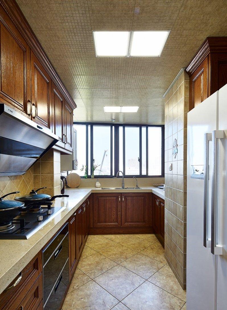 简约美式装修效果图大全 家装木地板效果图_6