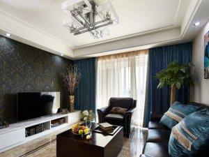 简欧卧室地板装修效果图 棕色木地板装修效果图