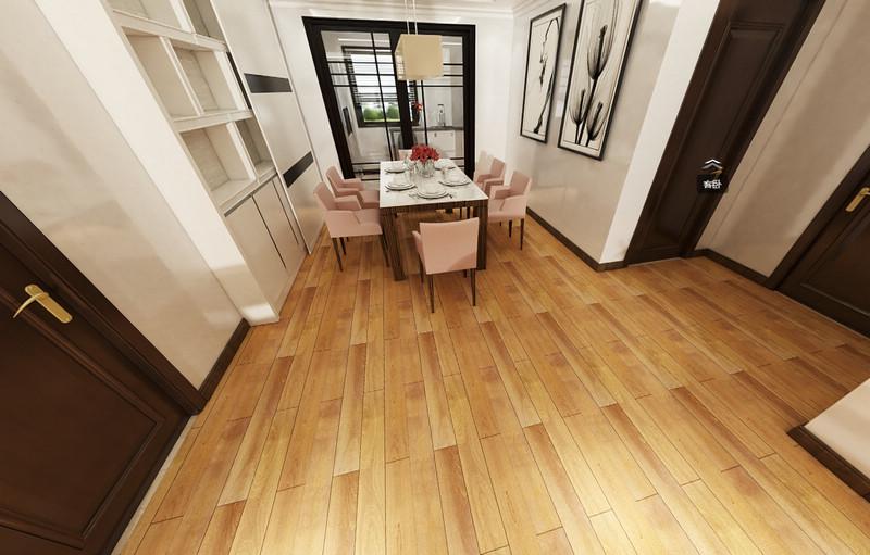 久扬实木地板系列—油楠木G9088效果图