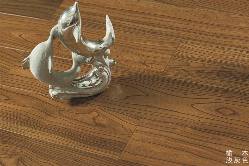 富绅地板-榆木-浅灰色 展示