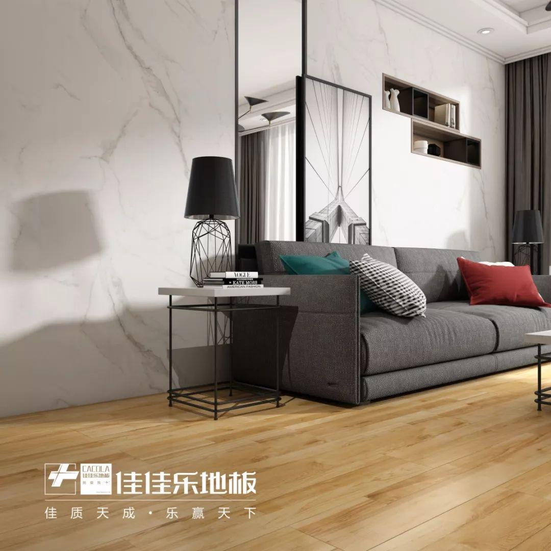 佳佳乐地板图片 日系风格客厅地板效果图