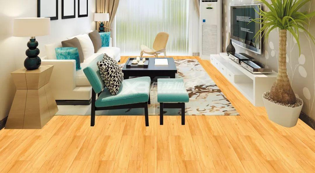 信步地板图片 秋季客厅木地板装修效果图