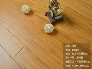洁福木地板图片  锁扣地板效果图