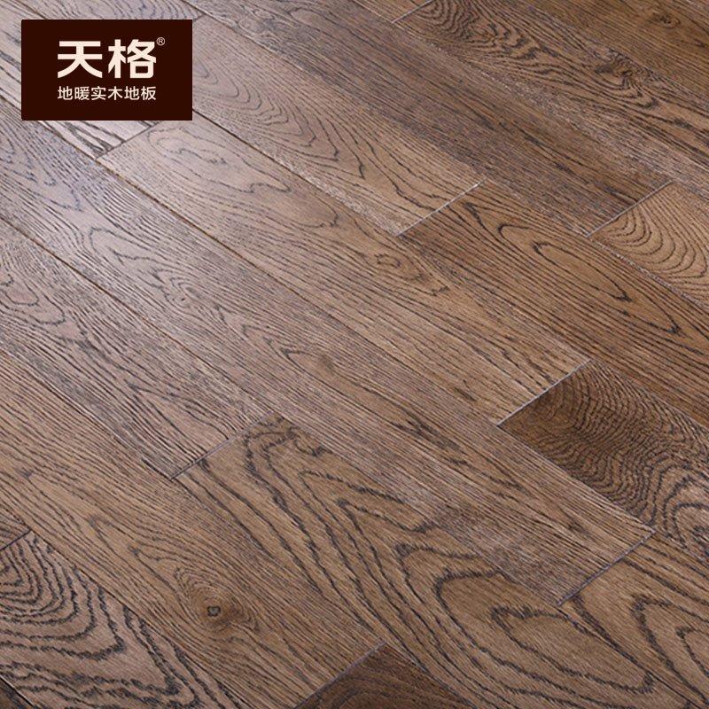 天格地暖实木地板图片 橡木地板产品效果图