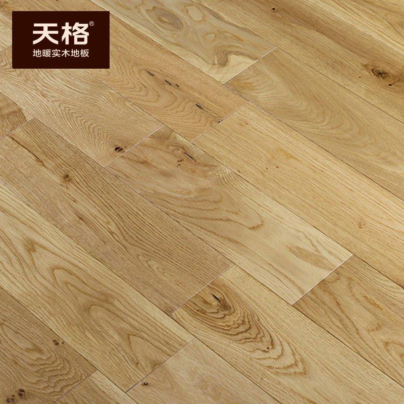 天格地暖实木地板效果图  橡木地板产品图片