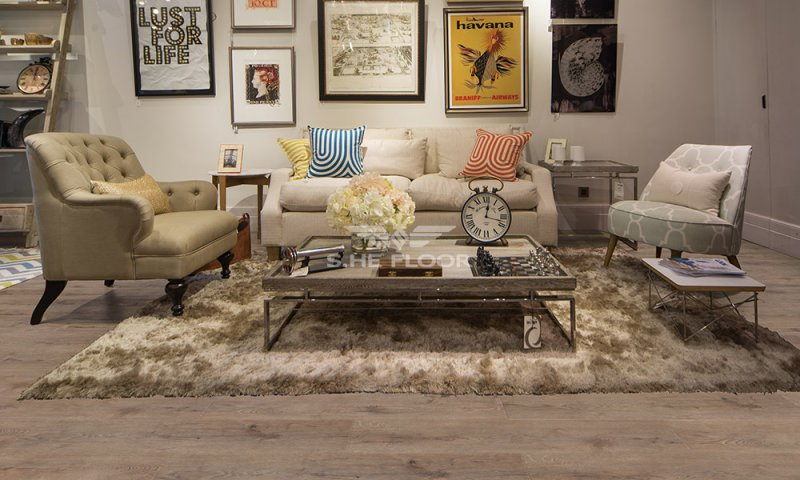 世和地板图片 客厅木地板装修效果图