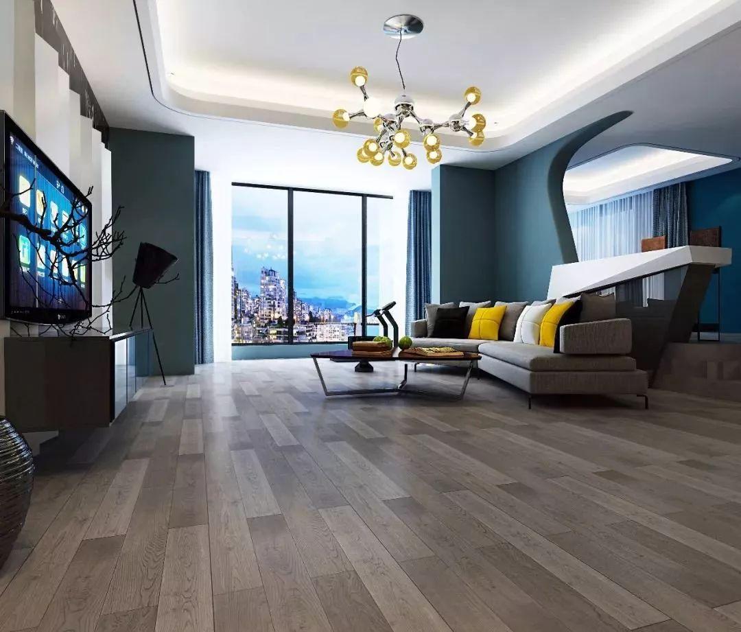 康辉地板图片 灰色系列地板装修效果图