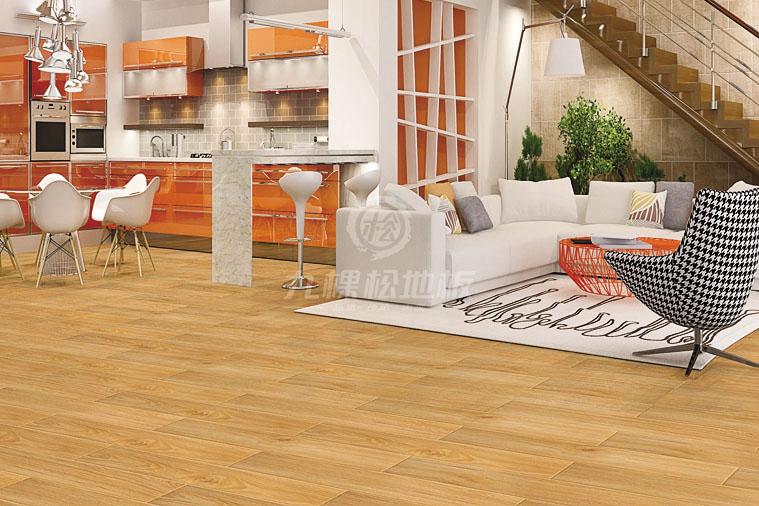 九棵松养生地板图片 客厅木地板装修效果图