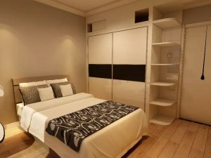 康辉地板图片 卧室木地板装修效果图