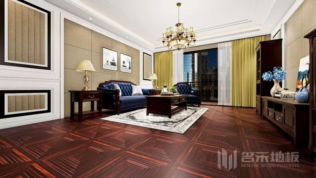 名禾地板圖片 客廳地板裝修效果圖