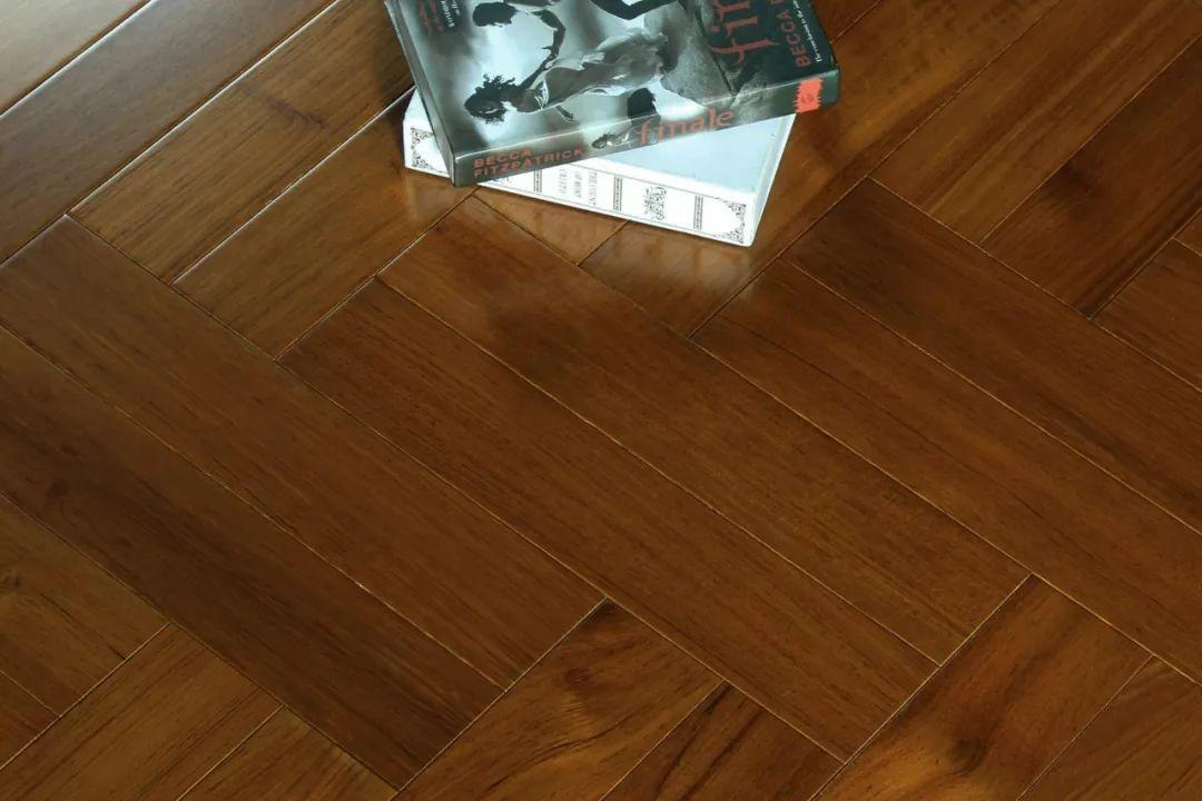 汉邦地板图片 柚木拼花地板产品效果图
