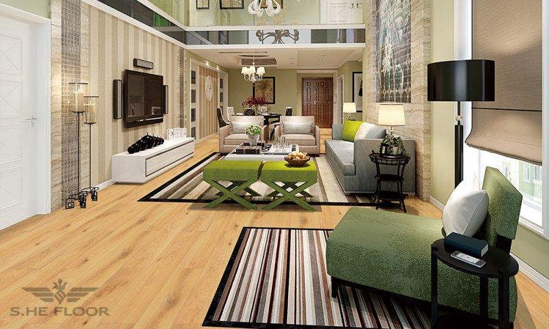 世和地板图片 客厅地板装修效果图
