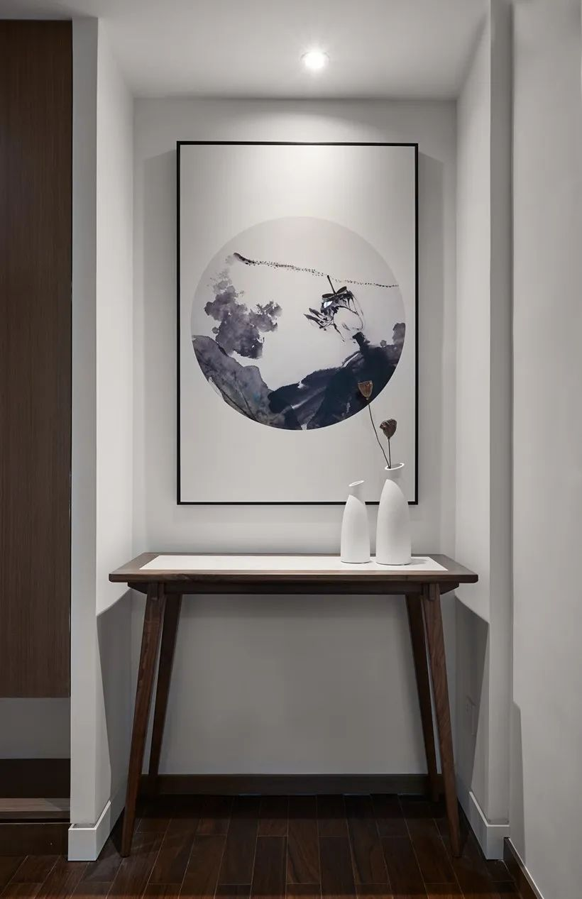 方圆地板图片 新中式风格家居地板装修效果图