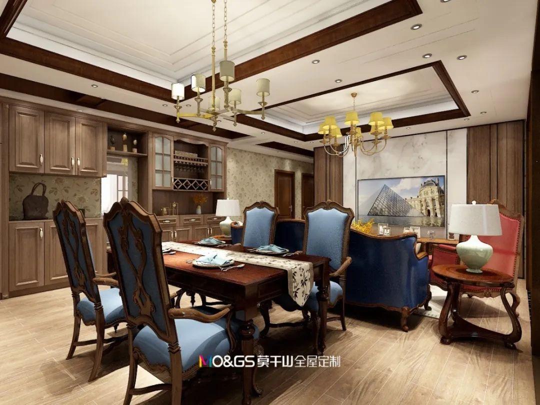 莫干山地板图片 客餐厅地板装修效果图