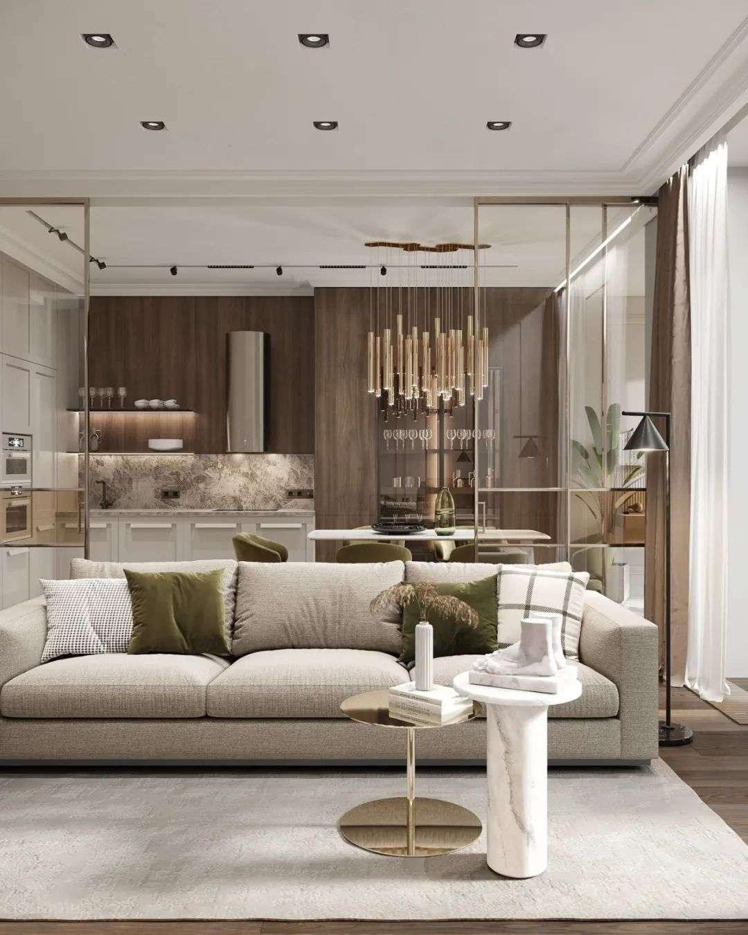 案例赏析:轻奢系客厅设计_69