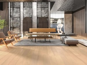 久扬地板自然原木色地板-原木风地板装修案例