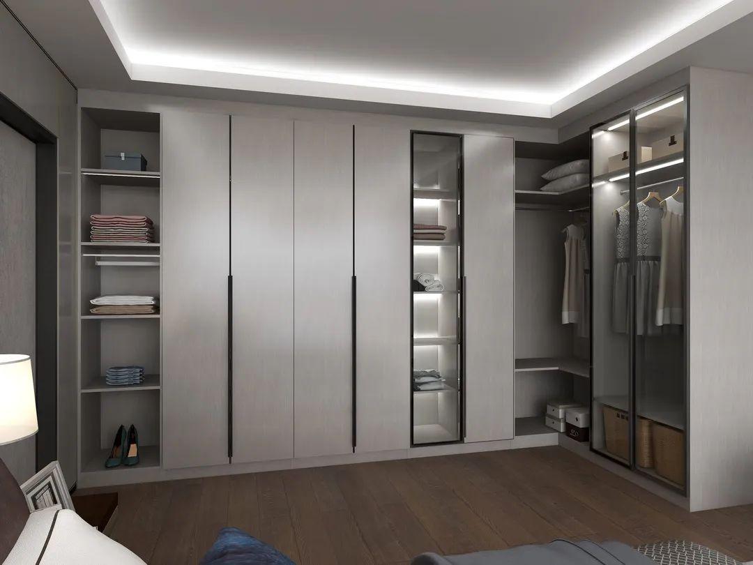 莫干山地板-现代简约风衣柜装修设计方案_4