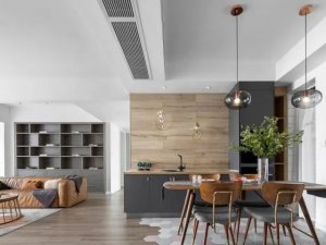 琥珀地板现代时尚风家居装修图片
